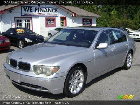 2005 bmw 745li for sale titanium silver metallic 2005 bmw 7 series 745li sedan