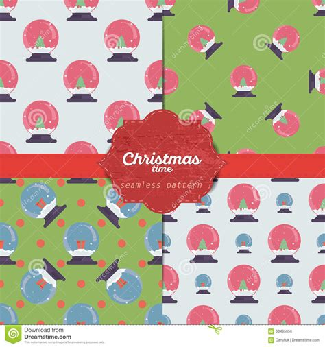 Seamless Gift Cards - set of christmas seamless patterns for xmas cards and gift wrapping paper stock