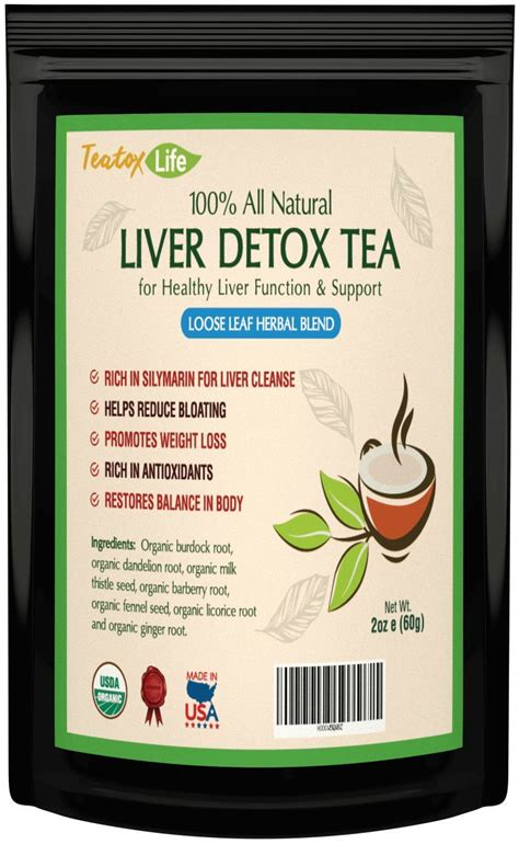 Teas That Detox Thc by Liver Detox Cleanse Tea Thc Remover Detoxification