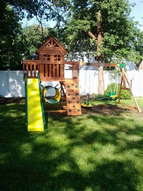 Backyard Discovery Bjs Backyard Discovery Cedar View Playset Installed In Cherry