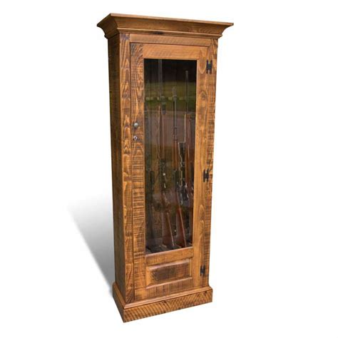 door gun cabinet single door rustic gun cabinet