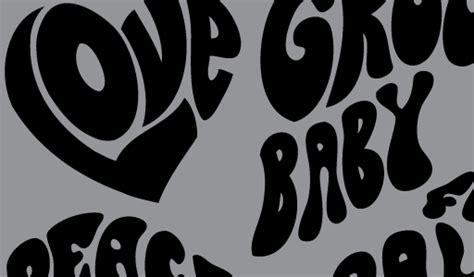 tattoo lettering hippie 60 s hippie vector type vector genius