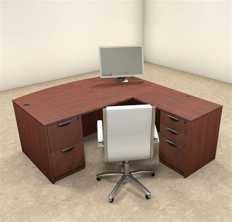 Modern L Shaped Office Desk 4pc L Shaped Modern Executive Office Desk Ot Sul L2 Ebay