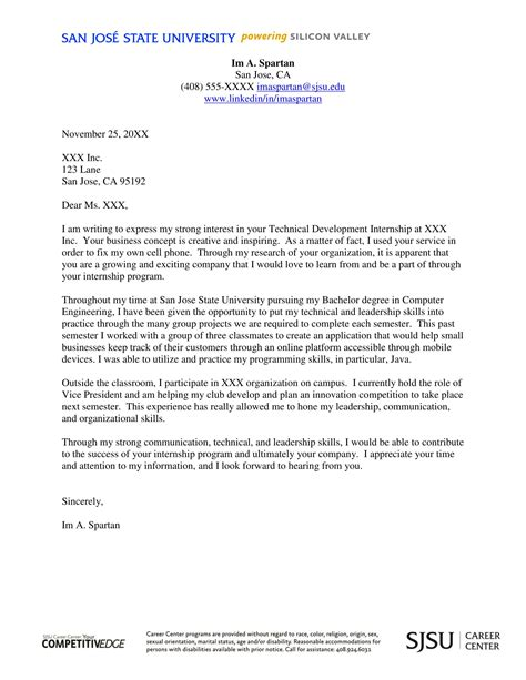 Sle Of Internship Cover Letter by 16 Best Cover Letter Sles For Internship Wisestep