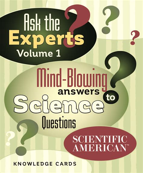 Questions About Experts You Must The Answers To 2 by Ask The Experts Mind Blowing Answers To Science Questions Vol 1 Knowledge Cards