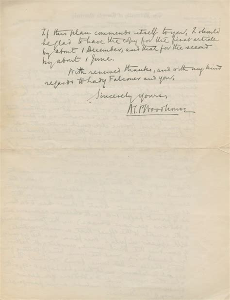 Niagara College Letterhead Autographed Letter Signed Asl Of A S P Wodehouse To Robert Falconer Arthur Sutherland Pigott