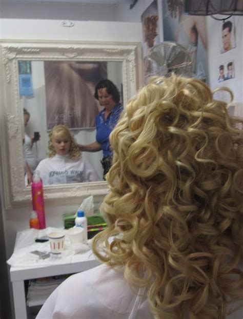 forced fem petticoat dress curls hair rollers 82 best salon time images on pinterest hair dos long