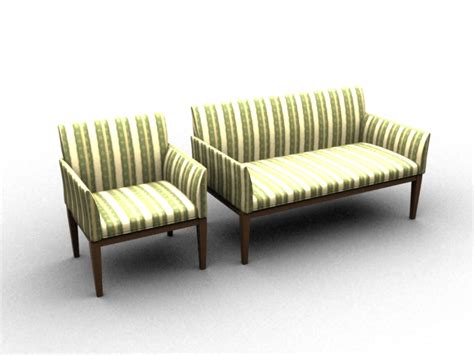 settee wood wood fabric sofa settee 3d model 3dsmax files free
