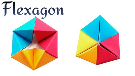 Easy Origami Toys - infinite rotating tetrahedron flexagon diy modular