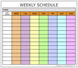 Weekly Schedule Calendar Template by Weekly Calendar Schedule Template Maker Weekly Planner