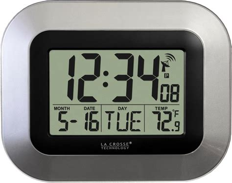 digital wall clock amazon amazon com la crosse technology wt 8005u s atomic digital