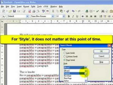 tutorial openoffice youtube openoffice tutorial how to insert cover page netosis