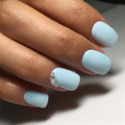 fotos uñas acrilico gel фото маникюр с голубым лаком