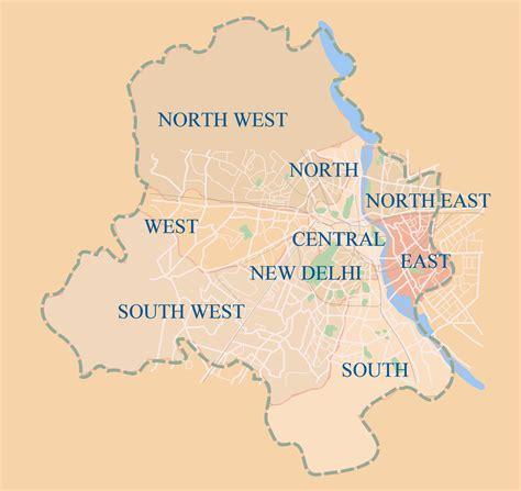 political map of delhi districts map of delhi mapsof net