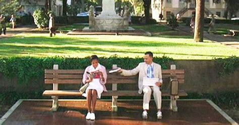park bench scene the quot park bench quot scene which opens the film forrest gump