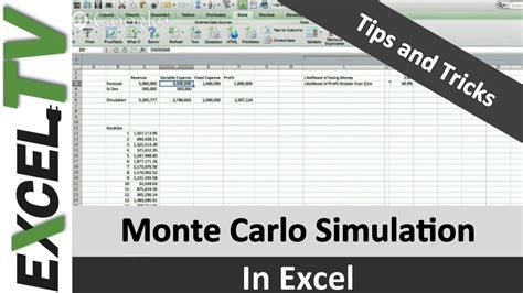Monte Carlo Simulation Formula In Excel Tutorial And Download Excel Tv Monte Carlo Simulation Excel Template