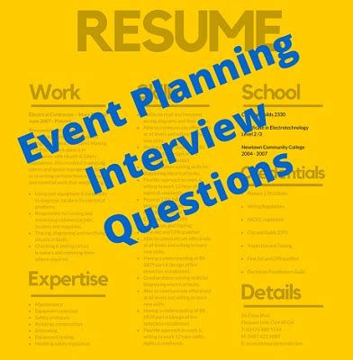 event planning questions that seldom get asked but should