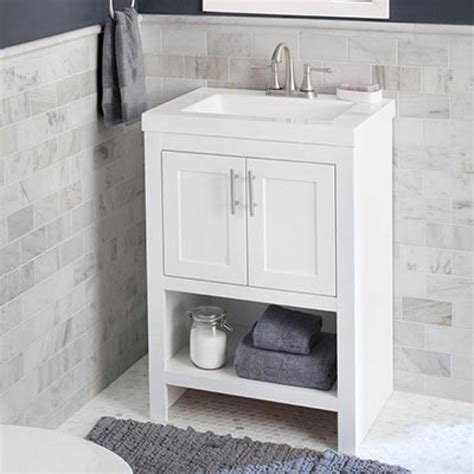 Small Bathroom Vanity And Sink Shop Bathroom Vanities Vanity Cabinets At The Home Depot Console Sinks For Small Bathrooms