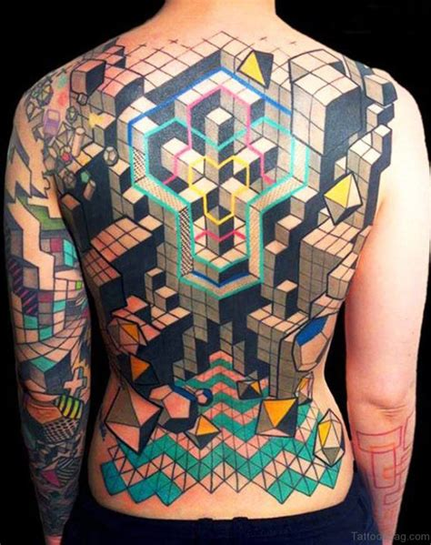 geometric tattoo full back 75 excellent geometric tattoos on back