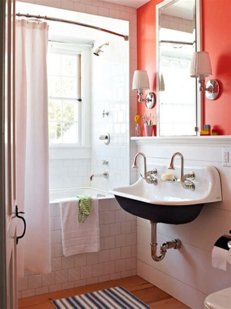 decorating a tiny bathroom fresh and small orange bathroom decor ideas