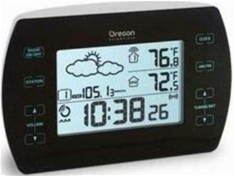 oregon scientific lwb2152510313001 model barm699a alarm clock with weather forecast touch