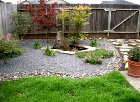 Backyard Landscaping Ideas With Rocks Great Landscaping Designs With Rocks And Gravelsand Green Shrubs Homelk