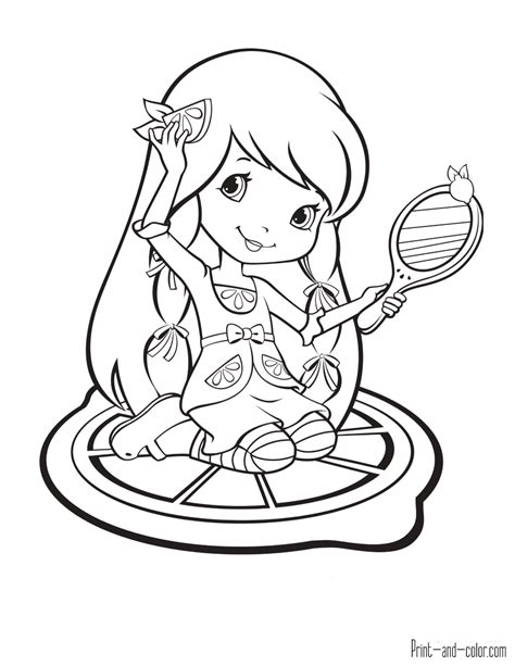 coloring book pages to print and color strawberry shortcake coloring pages print and color