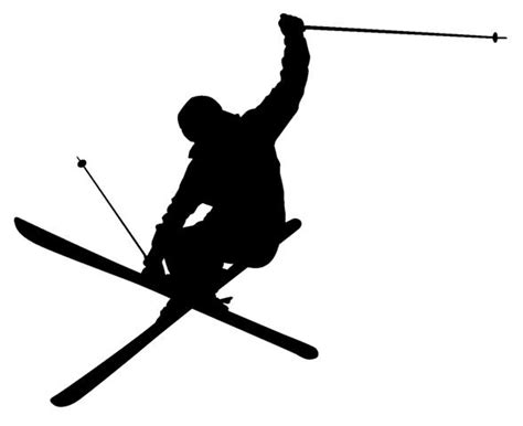 How To Put Tiles In The Bathroom by Trick Skier Silhouette A Matt Vinyl Wall Art Sticker Off