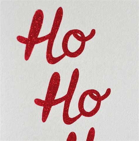 St Hoho Rnc ho ho ho sparkly card by the design conspiracy notonthehighstreet