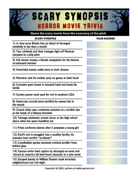 film trivia quiz online pin by christina thorne on halloweenie pinterest