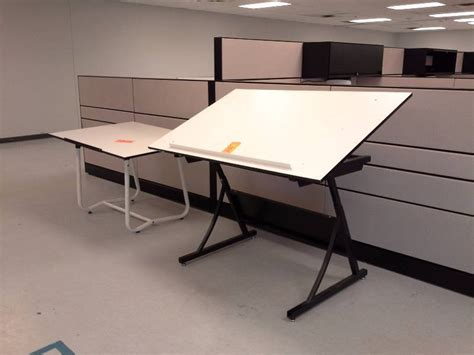 Drafting Table Dc Pair Of Drafting Tables Cubicles And Office Furniture Northland Terrace K Bid