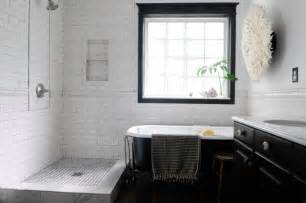amazing White Kitchen Design Ideas #2: bathroom-inspiration-dazzling-black-and-white-bathroom-tile-floors-installation-with-white-subway-ceramic-wall-walk-in-shower-ideas-800x531.jpg