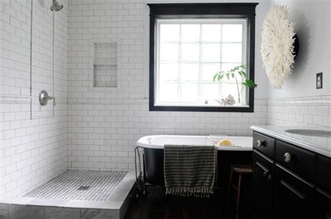 Black And White Tile Bathroom Decorating Ideas Shower Tile Designs For Each And Every Taste