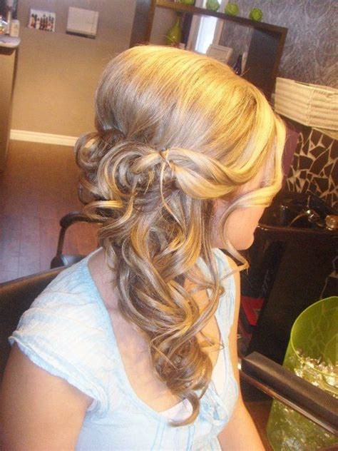 wedding hair that is looking like my favorite with a waterfall braid wedding