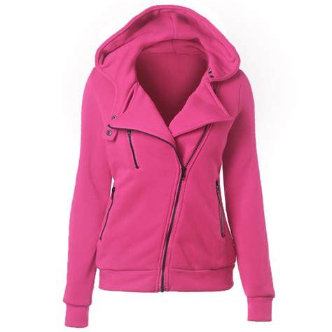 Hoodies Zipper Nike Just Do It Biru womens casual hoodie hooded zip zipper top sweat shirt