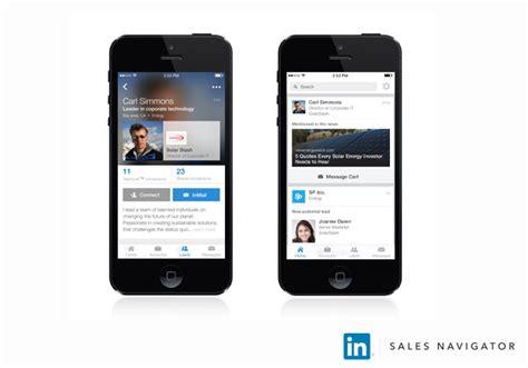 Mobile Linkedin Linkedin Sales Navigator Goes Mobile And Adds Redesigned