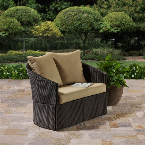 better homes and gardens wicker patio furniture better homes and gardens azalea ridge glider seats 2 walmart