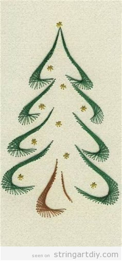 String Tree Pattern - 149 best cards stitched images on paper