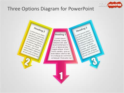 free 3 options diagram for powerpoint presentations