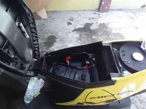 Box Aki Mio Soul tes mesin yamaha mio 125 dapat dibekerja tanpa aki battery