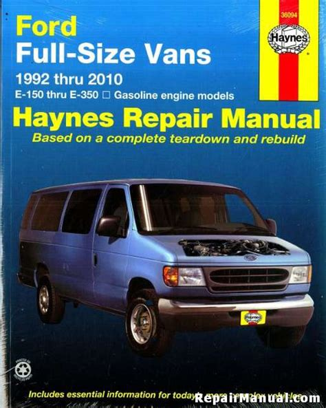 small engine service manuals 2010 ford e150 auto manual haynes ford full size vans 1992 2010 repair manual