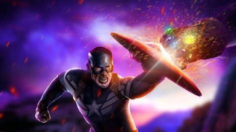 avengers endgame captain america fighting  thanos fanart hd wallpaper