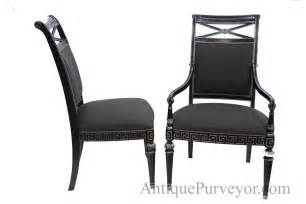 Black Upholstered Dining Chair Black Silver Painted Transitional Upholstered Dining Room Chairs High End