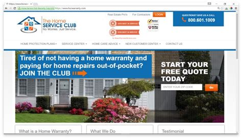 the home service club reviews comparison shop