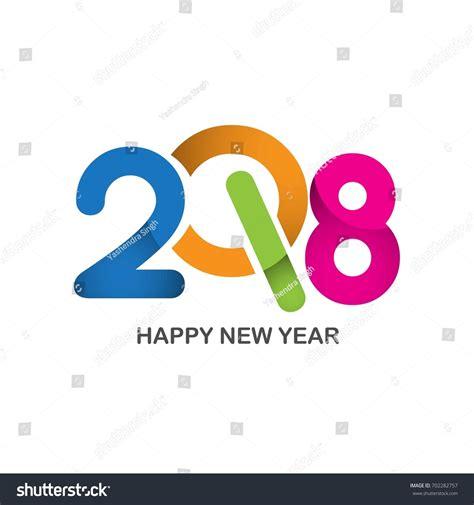 happy new year design vector happy new year 2018 text design stock vector 702282757