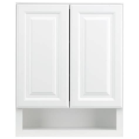 white bathroom wall cabinets shop kraftmaid 24 in w x 30 in h x 7 in d white maple