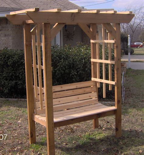 backyard arbor new cedar wood garden arbor with bench pergola arch