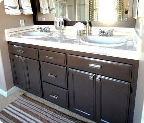 bathroom vanity resurfacing turn your builder s grade oak vanity into a thing of