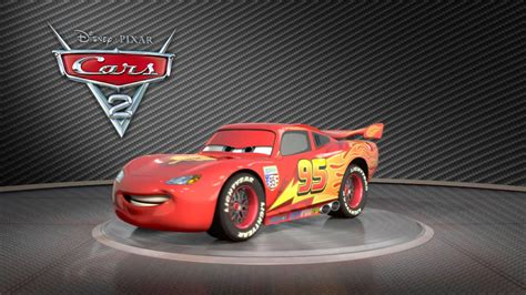 Sprei Cars2 cars 2 quot lightning mcqueen on turntable quot official hd