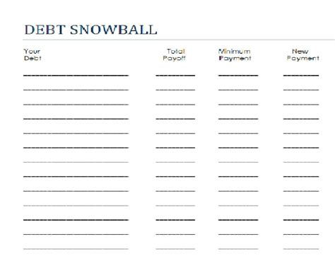 Snowball Spreadsheet by Dave Ramsey Snowball Worksheet The Large And Most Comprehensive Worksheets
